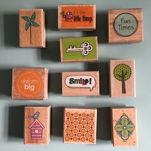 Set of 10 crafting stamps - Studio g: katie & co, Alison Wong, Idea House
